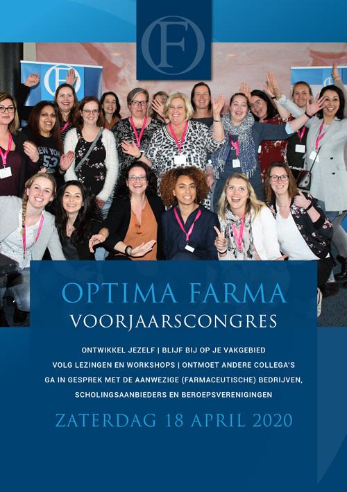 optima farma apothekersassistent farmaceutisch consulent farmaceutisch manager farmakundigen brochure congres 2020